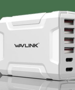 UH1062PC2-Wavlink USB3.0 with Dual Type-C 6 ports 60W Rugged Smart USB Charger  (LS)