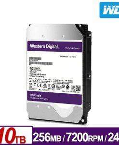 """WD101PURZ-WD Purple 10TB Surveillance 3.5"""" IntelliPower SATA3 6Gb/s 7200RPM 256MB Cache (WD101PURZ)"""
