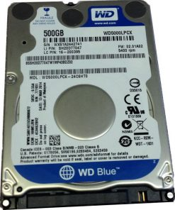 "WD5000LPCX-Western Digital WD Blue 500GB 2.5"" SATA PC HDD 2.5"" 5400RPM 6Gb/s 16MB Cache 2yrs Wty -WD5000LPCX"
