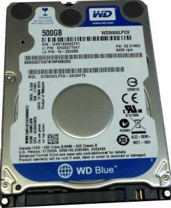 """WD5000LPCX-WD Blue 500GB SATA3 7mm 2.5"""" 5400RPM 6Gb/s 16MB Cache"""