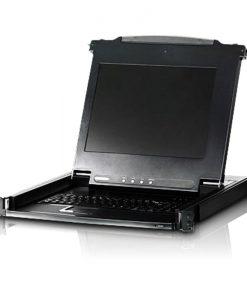 CL1000N-ATA-AU-Aten Rackmount USB-PS/2 VGA Single Rail Slideaway 19' LCD KVM Console