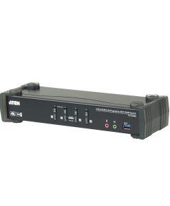CS1924M-AT-U-Aten 4 Port USB 3.0 4K DisplayPort KVMP Switch w/Built-in MST Hub