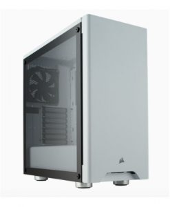 CC-9011133-WW-Corsair Carbide 275R WhiteTempered Glass Solid ATX Mid-Tower Case.