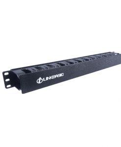 "MTC-04-LinkBasic 1RU 19"" Cable Management Rail 24 Slot Shallow (Plastic)"