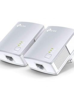 TL-PA4010 KIT-TP-Link TL-PA4010KIT AV600 Powerline Ethernet Adapter Starter Kit 600Mbps HomePlug AV 1xLAN Port 300m Range Plug & Play Mini Size