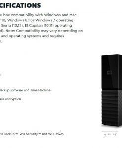 "WDBBGB0100HBK-AESN-WD My Book 10TB 3.5"" Desktop RAID External Hard Drive USB 3.1 Gen2"