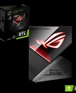 ROG-NVLINK-3-ASUS ROG-NVLINK-3 NVLink 3-Slot Bridge With Aura Sync RGB (For RTX2080/2080TI)