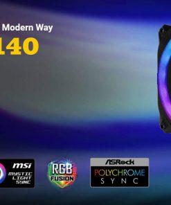 Prizm 140 ARGB-Antec Prizm 140mm ARGB PWM Fan Dual-Ring Hydraulic Bearing