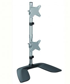 "LDT02-T02V-Brateck Dual  Monitor Vertical Desk Stand from 13''-27""(LS)"