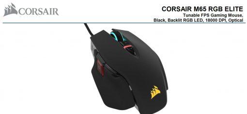 CH-9309011-AP-Corsair M65 RGB ELITE Tunable FPS Gaming Mouse Black
