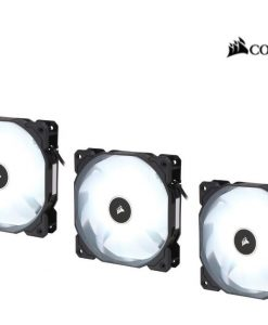 CO-9050082-WW-Corsair Air Flow 120mm Fan Low Noise Edition / White LED 3 PIN - Hydraulic Bearing