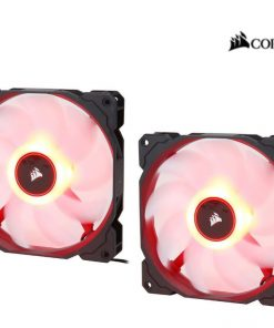 CO-9050089-WW-Corsair Air Flow 140mm Fan Low Noise Edition / Red LED 3 PIN - Hydraulic Bearing
