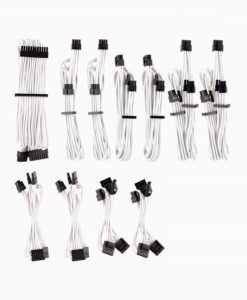 CP-8920224-For Corsair PSU - WHITE Premium Individually Sleeved DC Cable Pro Kit
