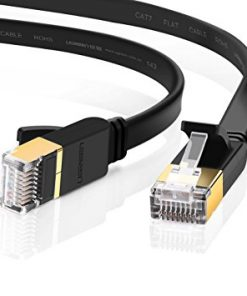 EA3-050SFA-Edimax 5m Black 10GbE Shielded CAT7 Network Cable - Flat