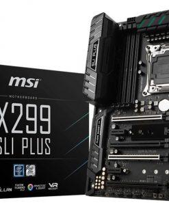 X299 SLI PLUS-MSI X299 SLI PLUS ATX Motherboard - S2066 8xDDR4 4xPCI-E 2xM.2 U.2 SLI/CF