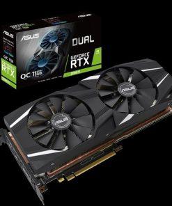 DUAL-RTX2080TI-O11G-ASUS nVidia DUAL-RTX2080TI-O11G GeForce RTX2080TI OC Edition 11GB GDDR6 PCIe 3xDP 1xHDMI 1650 Boost