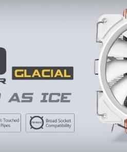 C400 Glacial-Antec C400 GLACIAL White Air CPU Cooler 12CM PWM 77 CFM Fan