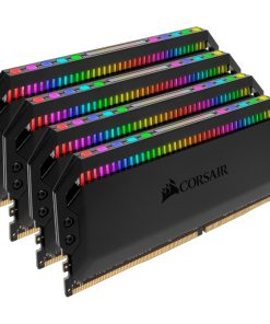 CMT32GX4M4Z3200C16-Corsair Dominator Platinum RGB 32GB (4x8GB) DDR4 3200MHz CL16 DIMM Unbuffered XMP 2.0 Base SPD@2666 Black Heatspreaders 1.35V AMD Ryzen