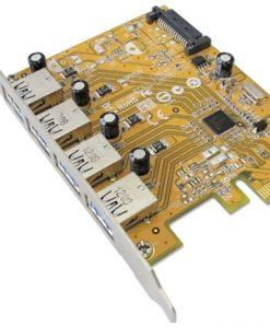 4710747380063-Sunix USB4300NS PCIE 4-Port USB 3.0 Card (SATA power connector)