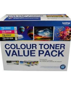 N8AE00003-TN251BK  TN255CLPK-Brother  TN-251BK and TN255 Colour Laser Toner Value Pack. Black