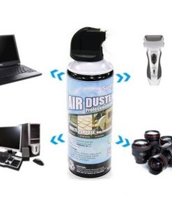 AD-400-8Ware Air Duster Compressed Can Spray Safety High Pressure Dust Remove to Clean Keyboard Mainboard Video Card PC Laptop Camera Mobile Car