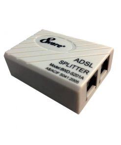 S201A-8ware ADSL 2+ Telephone Line  Internet Splitter Filter Passthrough Jack Micro (AS/ACIF S041:2005 Compliant) LS