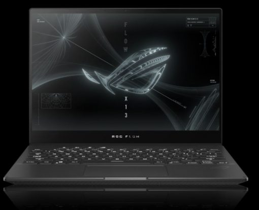 """GV301QE-K6051T-Asus ROG Flow X13 GV301QE 13.4"""" FHD 120hz AMD Ryzen 9 5900HS 16GB 512GB SSD WIN10 HOME NVIDIA GeForce RTX3050Ti Backlit 4CELL 1.3kg 2YR WTY Gaming"""