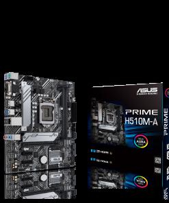 PRIME H510M-A-ASUS PRIME H510M-A Intel H510 LGA 1200 Micro ATX Motherboard PCIe 4.0