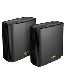 XT8 (B-2-PK)-ASUS ZENWIFI XT8 AX6600 Wifi 6 Tri-Band Whole-Home Mesh Routers Black Colour (2 Pack)