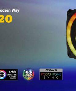 PRIZM120ARGB-Antec Prizm 120mm ARGB PWM Fan V2 Dual-Ring Hydraulic Bearing