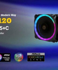 Prizm 120 ARGB 5+C-Antec Prizm 120mm ARGB Fan. 5+C 5 in 1 Pack with 5x 12CM RGB Dual Ring PWM Fans and 1x Fan Controller. 2 Years Warranty