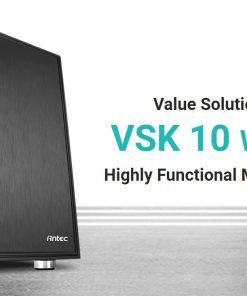 VSK1055 Window-Antec VSK10 Window mATX with True 550w 80+ 85% Efficiency PSU. 2x USB 3.0 Thermally Advanced Builder's Case. 1x 120mm Fan. Two Years Warranty