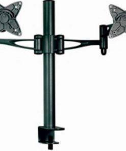 "AT-LCDMOUNT-2H-Astrotek Dual Monitor Arm Desk Mount Stand 36cm for 2 LCD Displays 21.5"" 22"" 23.6"" 24"" 27"" 15kg 30° tilt 180° swivel 360° rotate VESA 75x75 100x100"