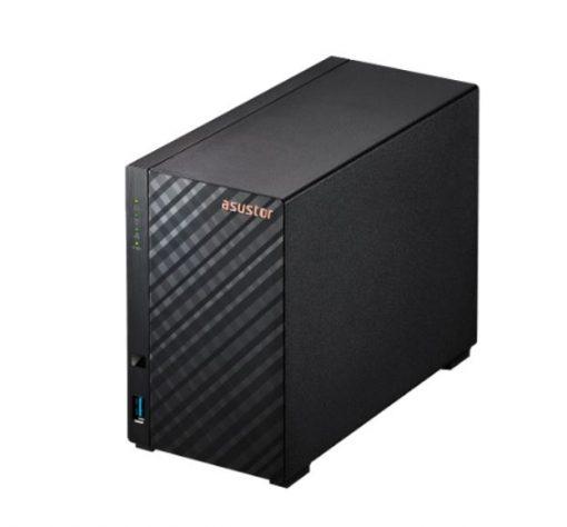 AS1102T-Asustor AS1102T 2 Bay NAS Realtek RTD1296 1GB DDR4 2x USB 3.2 Gen 1 1x 2.5-Gigabit Single