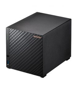 AS1104T-Asustor AS1104T4 Bay NAS Realtek RTD1296 Quad-Core 1.4 GHz 1GB DDR4 2x 2.5-Gigabit 3x USB 3.2 Gen 1 WOW WOL Single JBOD Hot Spare 3 YR WTY
