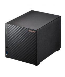 AS1104T-Asustor AS1104T 4 Bay NAS Realtek RTD1296 Quad-Core 1.4 GHz 1GB DDR4 2x 2.5-Gigabit 3x USB 3.2 Gen 1 WOW WOL Single JBOD Hot Spare 3 YR WTY