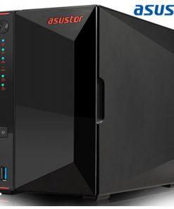 AS5202T-Asustor AS5202T 2 Bay Nimbustor 2 NAS Intel Celeron J4005 Dual Core 2.0 Ghz 2GB DDR4 4K HDMI2.0a  2x2.5GbE 3xUSB3.2 WoW 4K transcoding