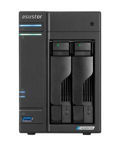AS6602T-Asustor AS6602T 2 Bay NAS Intel Celeron J4125 2.0GHz 4GB DDR4 8GB eMMC 2xGbE HDMI 3xUSB3 2xeSATA WoL S/PDF Windows Mac OS Linux 24/7 Mobile App