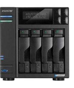 AS6604T-Asustor AS6604T 4 Bay NAS Intel Celeron J4125 Quad Core 2.0GHz 4GB DDR4 2x2.5GbE 2xM.2 NVMe SSD 3xUSB 4K HDMI WoL WoW AES-256 Encryption 3yrs ~AS6404T