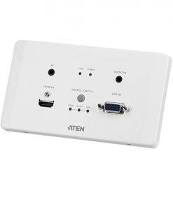 VE2812AEUT-AT-U-Aten VE2812AEUT HDMI  VGA HDBaseT Transmitter with EU Wall Plate / PoH (4K@100m) (HDBaseT Class A)
