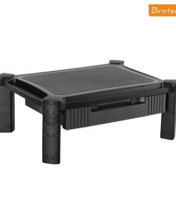 AMS-2-Brateck Height-Adjustable Modular Multi Purpose Smart Stand XL with Drawer (435x330x168mm) for most 13''-32'' Weight Capacity 10kg