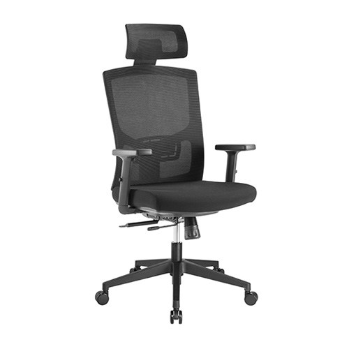 CH05-17-Brateck Ergonomic Mesh Office Chair with Headrest (655x675x1165-1265mm) Up to 150kg - Mesh Fabric