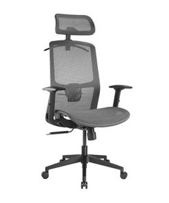 CH05-18-Brateck Ergonomic Mesh Office Chair with Headrest (655x675x1165-1265mm) Up to 150kg  - Steel Mesh