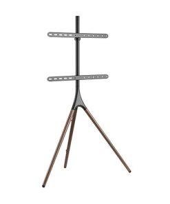 """FS12-46F-Brateck Easel Studio TV Floor Stand  TV for 45""""-65"""" Up to 32kg - Matte Black  Walnut"""