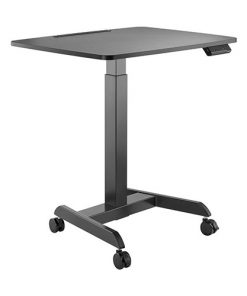 FWS08-3-B-Brateck Electric Height Adjustable Workstation with casters - Black