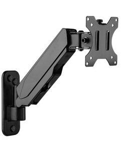 LDA30-111-Brateck Single Screen Wall Mounted Gas Spring Monitor Arm