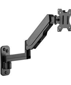 "LDA30-112-Brateck Single Screen Wall Mounted Articulating  Gas Spring Monitor Arm 17""-32"""