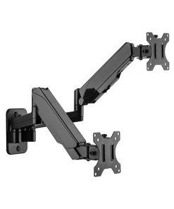 "LDA30-114-Brateck Dual Monitor Wall Mounted Gas Spring Monitor Arm 17""-32"""