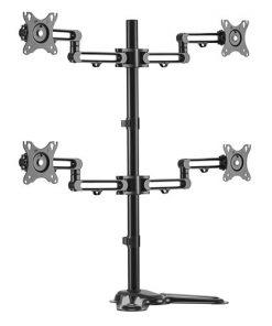 """LDT30-T048-Brateck Quad Monitor Premium Articulating Aluminum Monitor Stand Fit Most 17""""-32"""" Monitors Up to 8kg per screen VESA 75x75/100x100"""