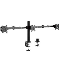 "LDT33-C036-Brateck Triple Monitors Affordable Steel Articulating Monitor Arm Fit Most 17""-27"" Monitors Up to 7kg per screen VESA 75x75/100x100"